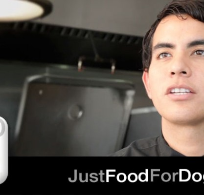How does JustFoodForDogs balance a diet?